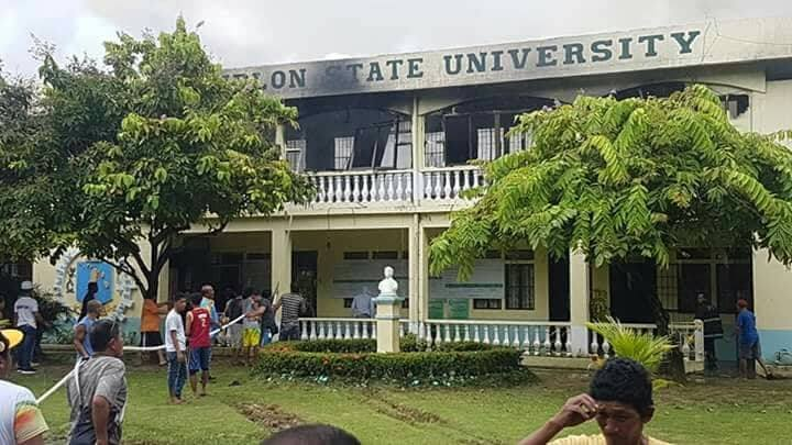 The Administration Building of the Romblon State University was razed by fire, July 7.