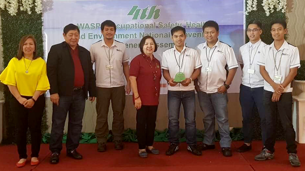 Berong Nickel Corporation Management Team receives the National Safety Excellence Award from Workplace Advocates on Safety in the Philippines Inc. (WASPI). Photo by BNC.