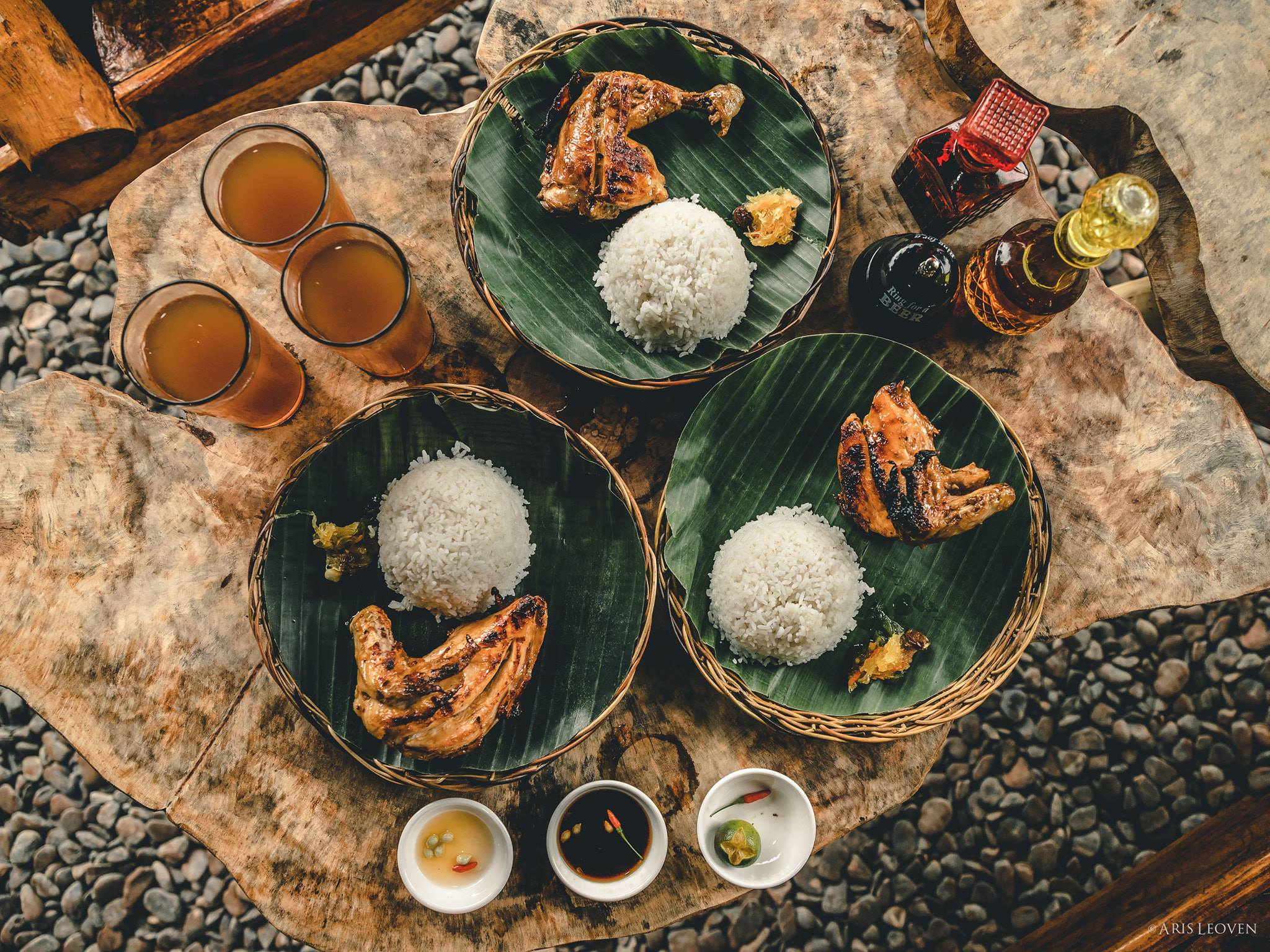 The grilled chicken servings at Yamang Bukid Farm Restaurant. Photo by Aris Leoven.