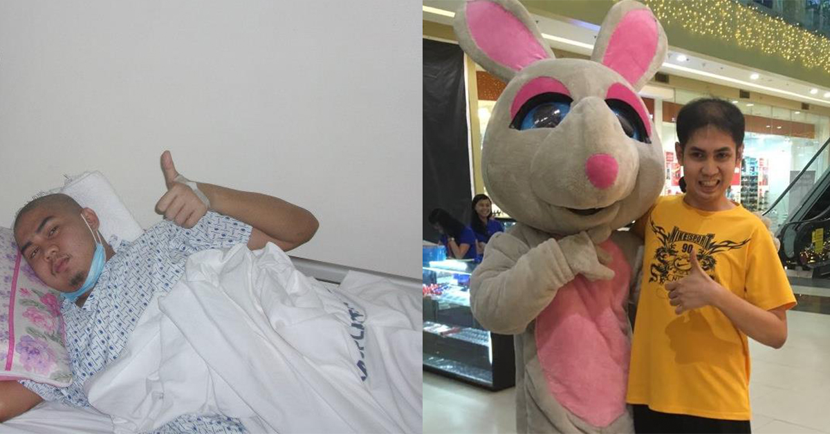 Jade Lagrada before and after his operation. (Photo courtesy Jade Lagrada)