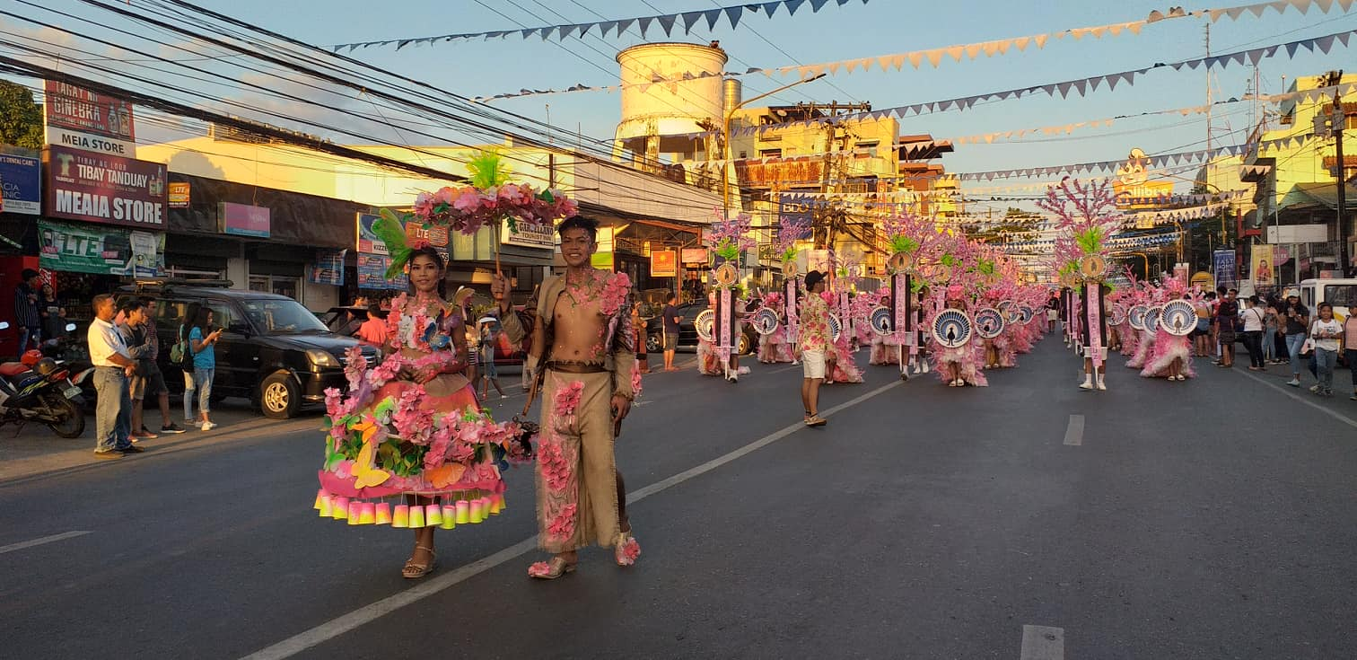 In photo: During the Civic Parade, Jesus Divine Son Academy from Brgy. Langogan won the Best Balayong Attire 2019. PDN File Photo
