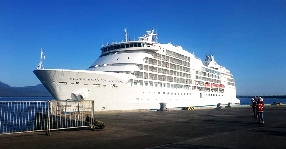 Seven Seas Navigator Cruise Ship docked at Puerto Princesa Port, March 3, 2019. Photo by Sev Borda III / Palawan Daily News File Photo