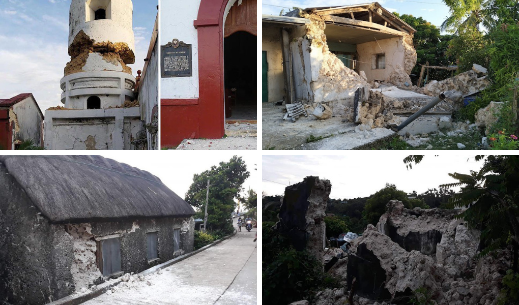 Photos of destruction brought about by the earthquakes in Itbayat, Batanes. (Courtesy of Jing Noblejas, Dominic De Sagon Asa, PIA)