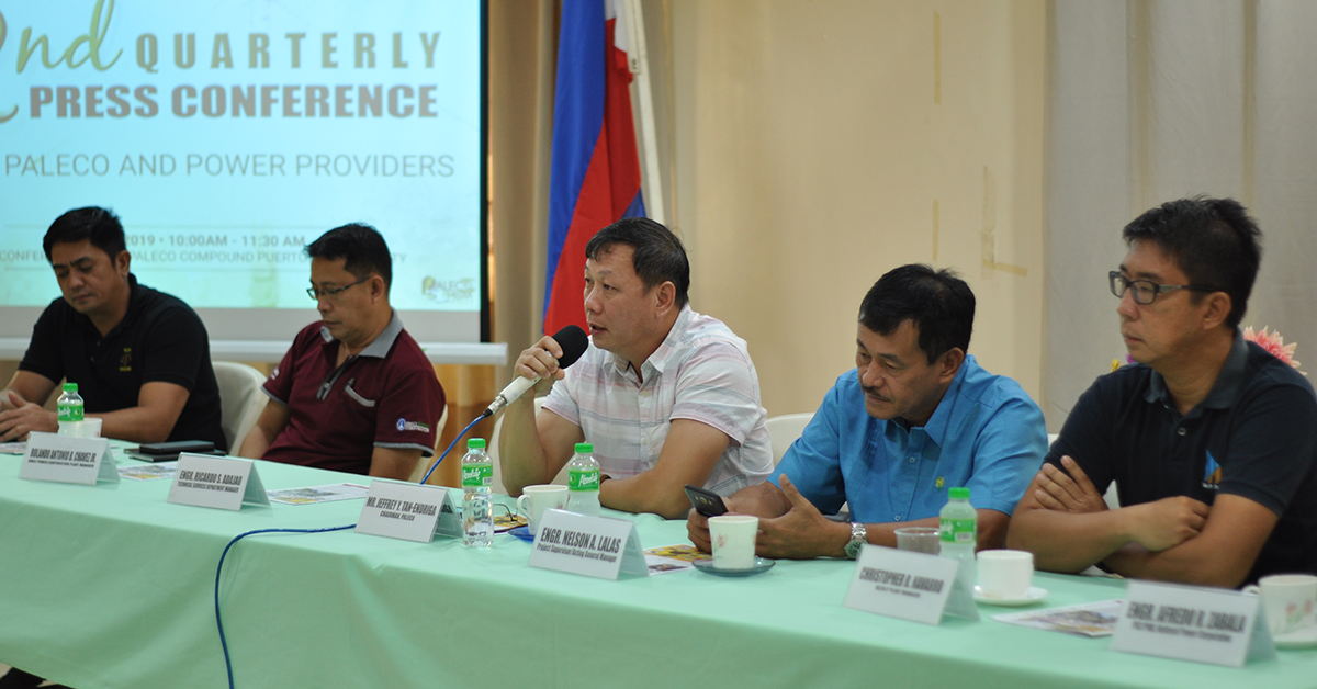 During the PALECO 2nd Queterly Press conference. Photo by Sevedeo Borda III / Palawan Daily News