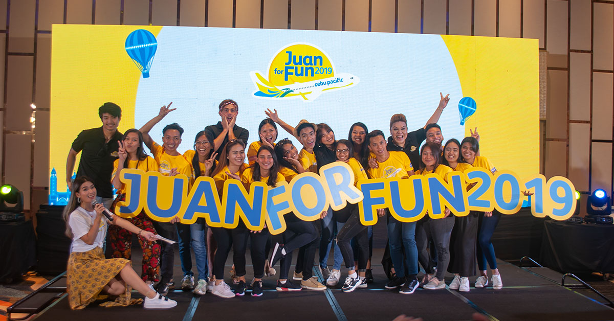 Juan For Fun2019 winners and mentors, during the send-off ceremony at Dusit Thani Mactan, Cebu Photo by Sevedeo Borda III / Palawan Daily News