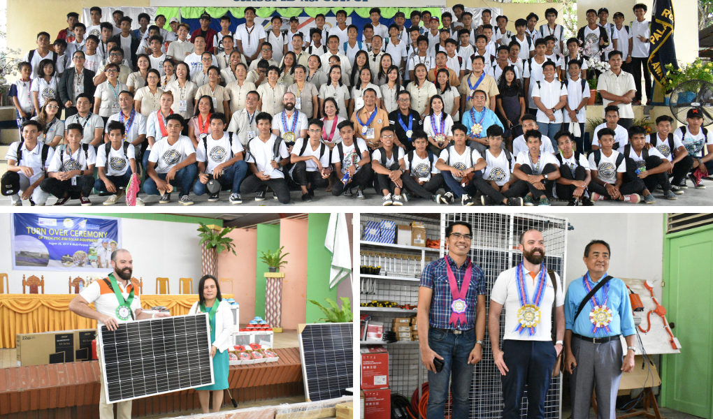Vivant Foundation donates solar power system to Palawan National School and Roxas Comprehensive National High School as part of the RELY Project, an EU funded sustainability electrification program.  Photos by Seved B. Borda III / Palawan Daily News