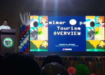 Tourism Regional Director for Mimaropa Danilo B. Intong presented the programs, projects, and other activities of the Department of Tourism (DOT) in the Mimaropa region during the last leg of Dagyaw 2019: Open Government and Participatory Governance Regional Town Hall meeting held in Occidental Mindoro recently. (PJF/PIA-MIMAROPA)
