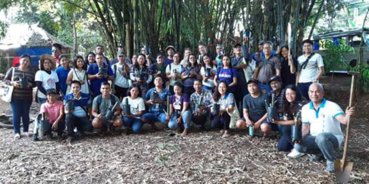 Participants during the training on bamboo production, sponsored by Pilipinas Shell Foundation thru TANDIKAN project. photo from: Forest Ranger Gerald Opiala of the City ENRO