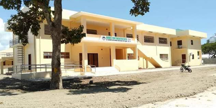 The new evacuation center in Brooke's Point. Photo by Romeo Tan