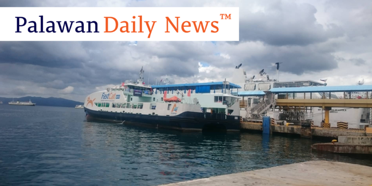The new FastCat M15 vessel at the Batangas Port. Photo by Sevedeo Borda III/Palawan Daily News