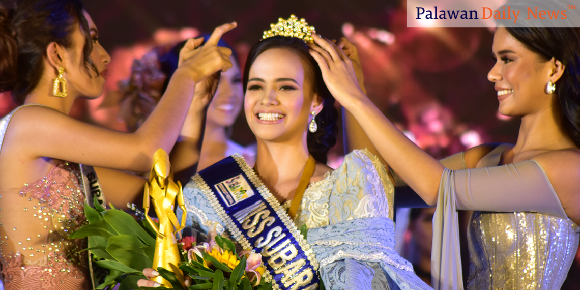 Silvana Rauch from Angeles City, Pampanga is crowned Miss Subaraw 2019. Photo by Eugene Murray/Palawan Daily News