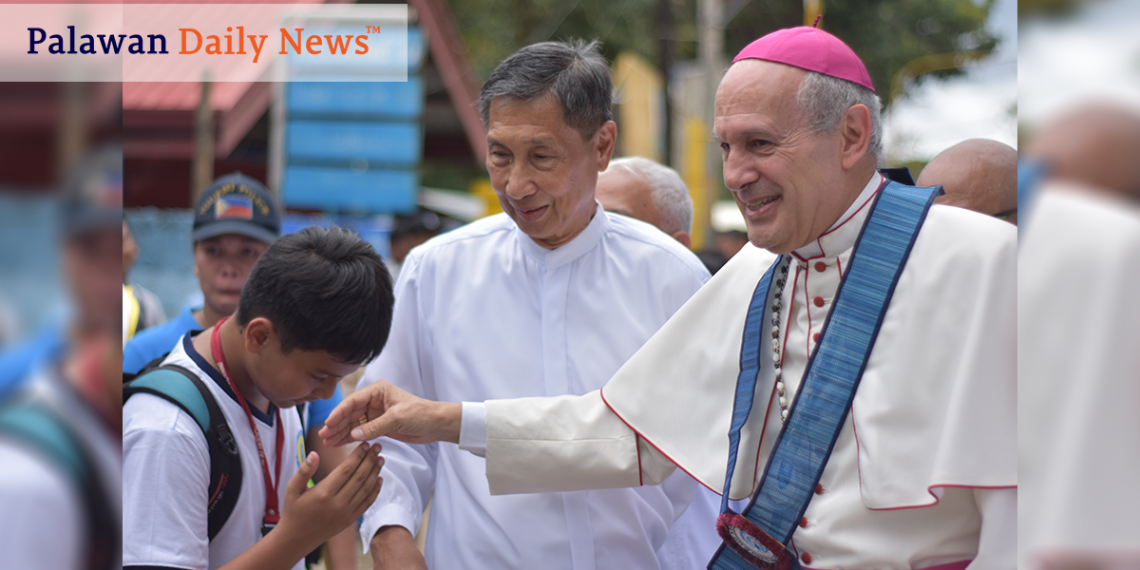 Si Apostolic Nuncio to the Philippines Gabriele Giordano Caccia. Photo by Sev Borda III/Palawan Daily News