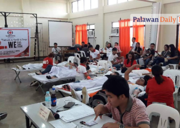 The Pledge 25: Mass Blood Donation Drive in Palawan State University held last October 30, 2019. Photo by Peter Policarpio/Palawan Daily News
