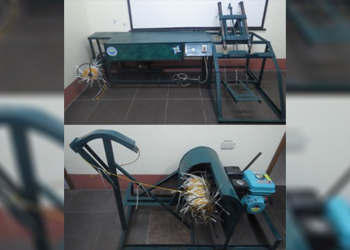 The mechanical tie-line straw inserter (above) and seaweed harvester (below) developed by PSU led by Prof. Floredel Galon through the assistance of DOST. Photo from DOST-PCAARRD)