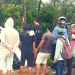 Bystanders are looking at the damaged van that was involved in the accident with the motorcycle last December 26, 2019 along Brgy. Tagburos, Puerto Princesa City. Photo courtesy of Charyl Jamot Dionisio Felipe.