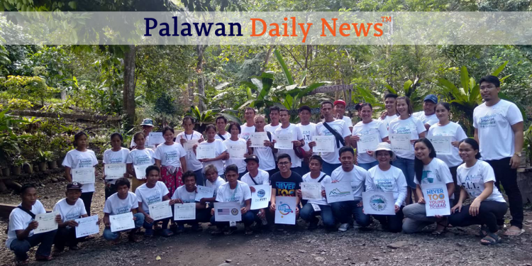 Palaw'an members commit to supporting sustainable tourism in Sabsaban Falls, Brooke's Point. Photo by Hanna Camella Talabucon/Palawan Daily News