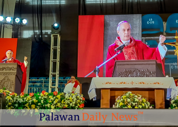 Apostolic Papal Nuncio to the Philippines Gabriele Giordano Caccia officiates Holy Mass for Bugsayan 2019. Photo by Melvin Garvilles/Palawan Daily News