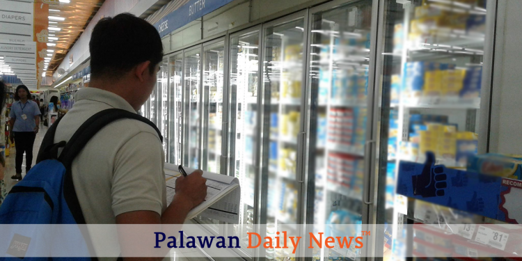 The DTI went around supermarkets in Puerto Princesa City to ensure that prices of Christmas commodities are sold at the right price. Photo by Diana Ross Cetenta/Palawan Daily News