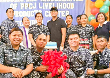 """PPCJ inaugurates its new """"display center"""" for the livelihood products of persons deprived of liberty (PDLs). Photo courtesy of BJMP-PPCJ"""