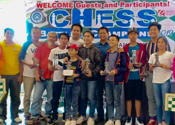 The winners of the Chess Battle Championship 2019 organized by the Tandikan Chess Club. Photo by Reyjoy Bartolay