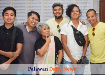 The social media stars of Palawan: Jan Valderama, Evo Joel Contrivida, Sheryll Ico, Melvin Garvilles, Bitoy Cortez, and Pat Aquino. Photo by Eugene Murray/Palawan Daily News