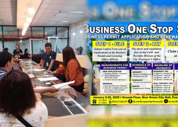 Business establishment owners in the city who are among the early birds to process their application/ renewal of business permits on January 2. Photos by Thess Vicente Rodriguez & City Mayor's Office, Puerto Princesa City