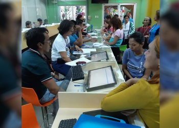 The first wave of BOSS transactions during the first week of January. Photos courtesy of Maria Theresa Rodriguez, chief of Business Permit and Licensing Office Regulatory Enforcement Monitoring Unit (BPLO-REMU)