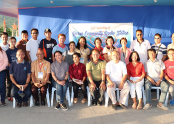 Officials and personnel of PCSD and LGU-Roxas Palawan during the launching of the DWSD-radio station. Photo courtesy of PCSD
