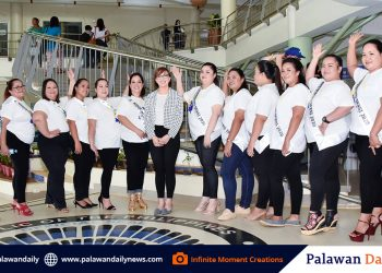 Binibining Seksi candidates pose with Ms. Raine Bayron at the City Hall  Photo courtesy of Infinite Moment Creations production team