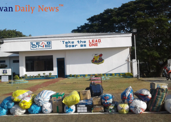 The relief goods bound for the victims of the Taal eruption. Photo by Diana Ross Cetenta/Palawan Daily News