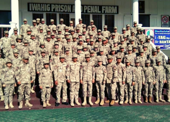 Officers and staff of the Iwahig Corrections Facility. (Iwahig PIO)