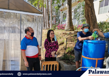 Palawan State University fabricates 'disinfection chamber' (Photo courtesy of Dr. Ramon M. Docto)