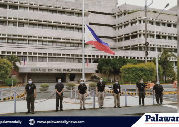 Senate flag at half mast: The Senate is flying its flag half-mast to express grief over the death of legendary action star turned politician Sen. Ramon Revilla Sr., who succumbed to heart failure on Friday, June 26, 2020 at the age of 93.  Photo courtesy of  the Office of the Sergeant-At-Arms (OSAA).